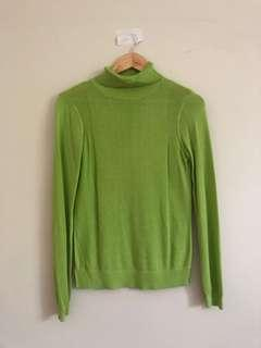 Lime turtle neck