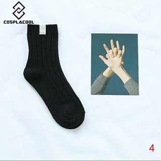 🚚 black ulzzang socks
