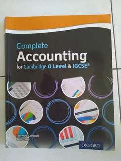 Cambridge IGCSE Accounting