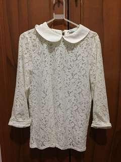 Cute White Lace Top