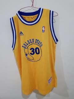 Stephen Curry Hardwood NBA Jersey (Replica)