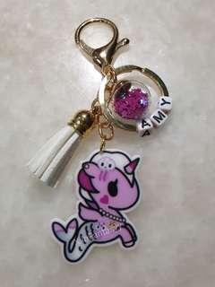 Tokidoki keychain with customised name