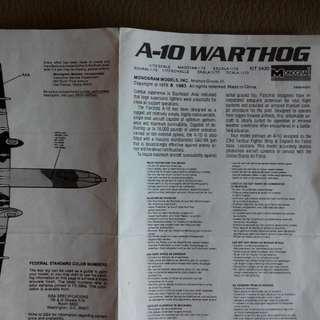 美帝霸权戰机模型A-10,有内部构做,1:72欠水贴欠外盒