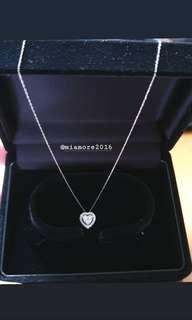 18K White Gold Heart Necklace