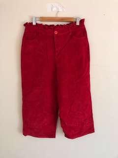 Lazy Oaf red corduroy pants