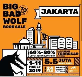 Big bad wolf jakarta 2019 / BBW / murah