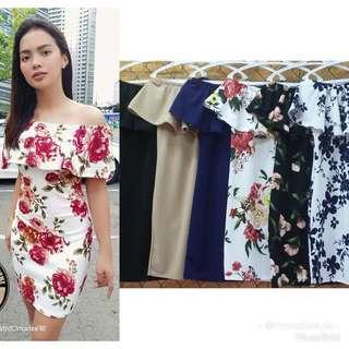 Off shoulder Dress (Plain and Floral)