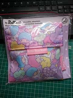 Brand new little twin stars eco wrap bag (BPA free) 全新可重用環保食物袋