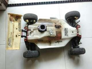 1/8 buggy chassis & sh engine.
