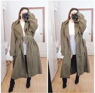 Long Army Green Coat