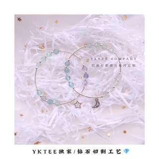 🚚 七彩萤石星月手镯