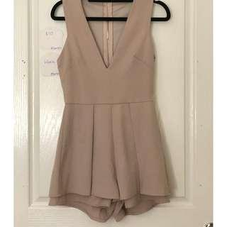 Taupe Colour Playsuit Size 8