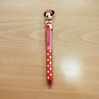 🚚 東京迪士尼米妮晃頭公仔三色筆+自動鉛筆