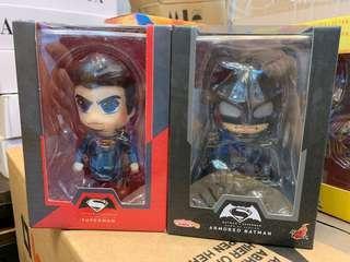 Batman vs Superman cosbaby bubble head figure 2 in 1 set