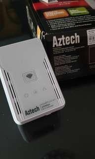 Aztech homeplug av 200 mbps wifi extender