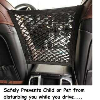 [In Stock - Free Delivery] Car Multipurpose Storage and Passenger Safety Net for Children & Pets