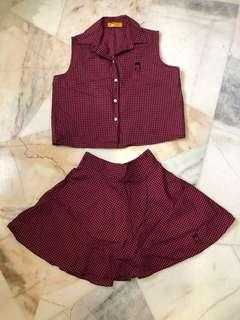 Top and skirt co-ord