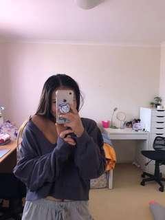 Grey off the shoulder sweatshirt