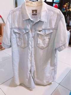 🚚 G star 牛仔襯衫 XXl-原價5500