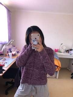 Purple speckled sweater
