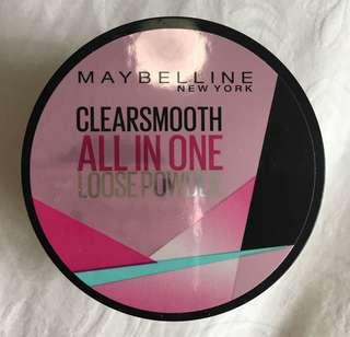 🚚 Maybelline Clearsmooth All In One Loose Powder