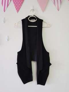 Black Vest (Free Size)
