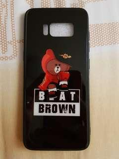 Brand New Brown Line friends S8 Casing Black Red Jacket