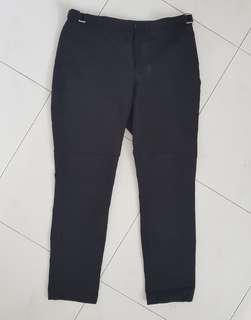 🚚 H&M black work pants with metal accents