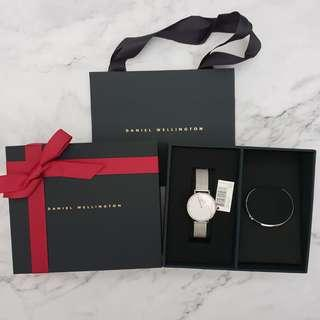 Daniel Wellington DW Sterling Watch + Cuff Set