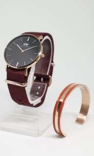 Authentic DW + bracelet bisa nego