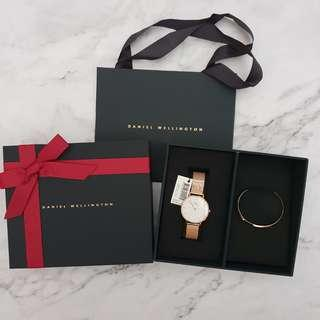 Daniel Wellington DW Melrose Watch + Cuff Set