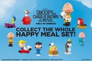 McDonald's 麥當勞 Snoopy 花生大電影玩具一套10隻