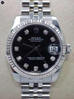 ROLEX DATEJUST 178274 BLACK DIAL (Pre-Owned)