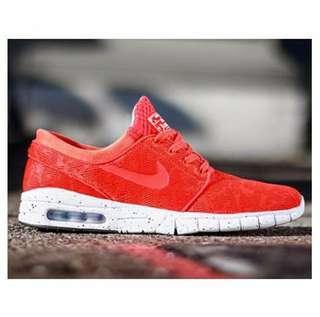 🚚 Nike sb stefan janoski max 紅 氣墊 球鞋 慢跑鞋 運動鞋 US8.5 全新正品