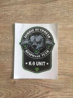 K-9 unit response team sticker