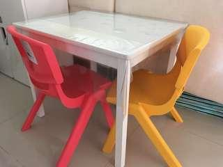 IKEA Kritter Children table + 2 chairs