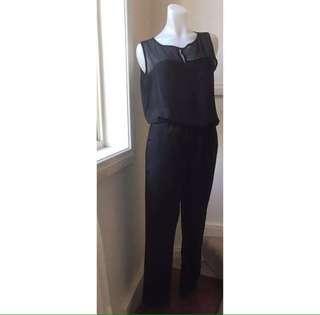 Size 8: Classic Black jumpsuit