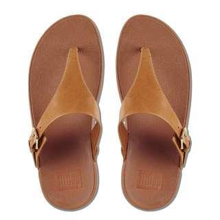 NewSeason FitFlop EU36 Skinny Toe Post Sandals Leather Caramel #febp55