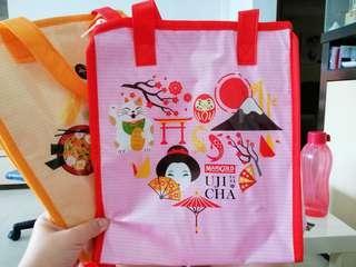 Marigold cooler bag with zip