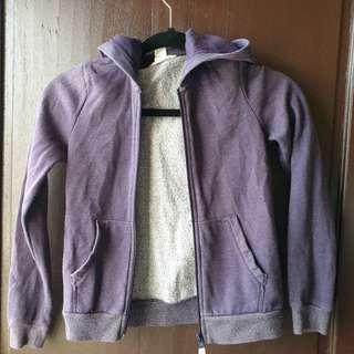 H&M Purple Hoodie with zipper 8 to 10 yrs old