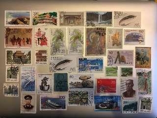 [包郵]中國郵政 舊票 35張