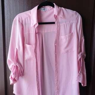 Express Portofino Shirt SMALL (pink) 100% polyester