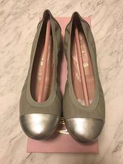 Pretty Ballerinas Grey/Silver Flats