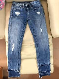 Blank NYC washed ripped jeans