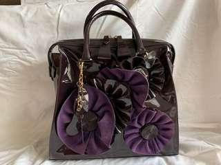 Brand New V Patent Purple Bag
