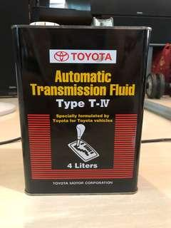Toyota Automatic Transmission Fluid Oil Type T-IV