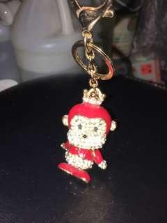 Red monkey鎖匙扣