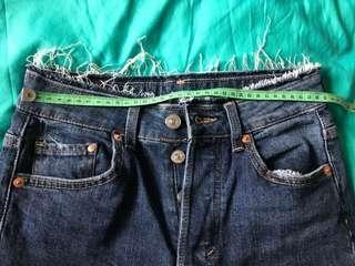 H&M denim high waist skinny ankle size 25