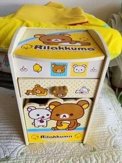 鬆弛熊 Rilakkuma 木製櫃 首飾箱 飾物盒