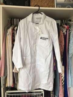 Lab coat and glasses